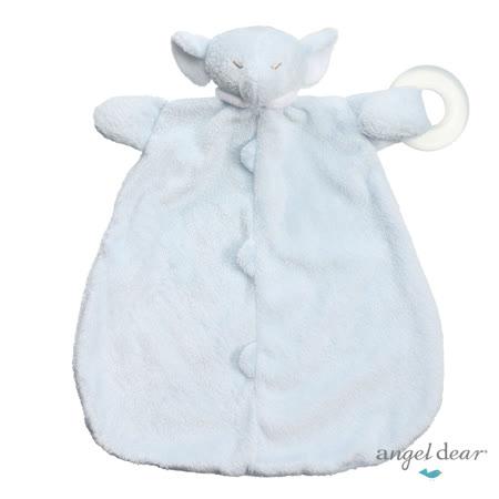 美國 Angel Dear 動物嬰兒固齒安撫巾 (藍色小象)
