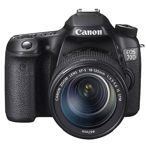 Canon EOS 70D 18-135mm IS STM (公司貨)-送64G C10卡+專用電池+UV鏡+快門線+遙控器+遮光罩+相機包+減壓背帶+HDMI+吹球拭鏡筆清潔組+熱靴蓋