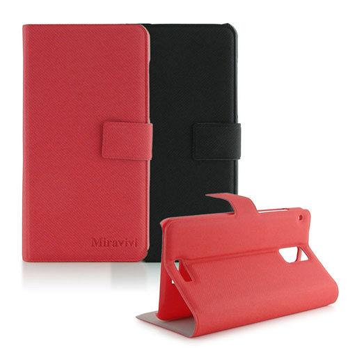 Miravivi HTC J 可立式簡約薄型筆記本皮套