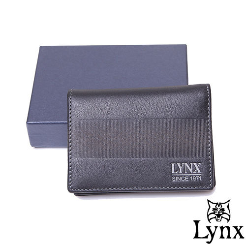 Lynx ~ 山貓暗夜星空真皮系列簡約式2卡1照零錢包