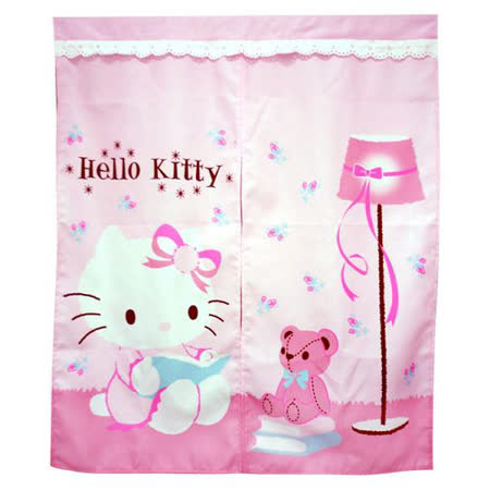 Hello Kitty抱熊中門簾 83x97cm (KT0405)