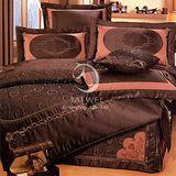 【范倫鐵諾 斯維諾#典藏風華】雙人絲緞七件式床罩組(#152)
