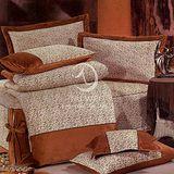 【范倫鐵諾 斯維諾#豹紋迷情】雙人絨毛七件式床罩組(#817)