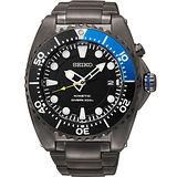SEIKO Kinetic 怒海征服者潛水200米腕錶-IP黑X藍 5M82-0AF0B