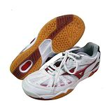Mizuno WAVE SMASH LO 羽球鞋 (白*紅) 7KM-26062
