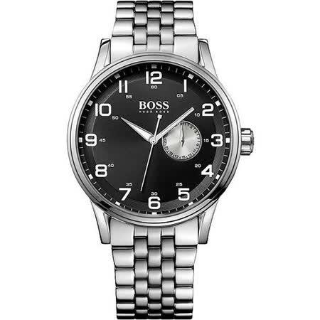 Hugo Boss 古拉爵雅典爵士腕錶-黑/銀 H1512724