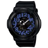 CASIO BABY-G 甜美個性彩漾霓虹休閒錶(黑)BGA-134-1BDR