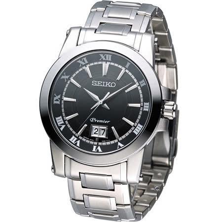 精工錶 SEIKO Premier 大視窗日曆 紳士腕錶 6N76-00B0D SUR015J1