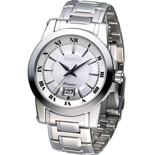 精工錶 SEIKO Premier 大視窗日曆 紳士腕錶 6N76-00B0S SUR013J1