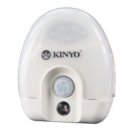 KINYO智慧光控+人體紅外線5 LED感應燈(ASL-710)