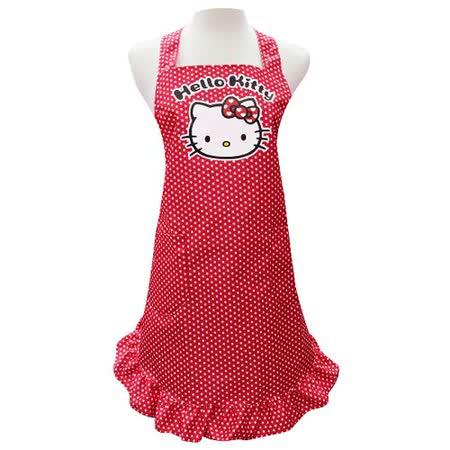 Hello Kitty荷葉裙擺大人圍裙KT-0422