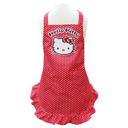 Hello Kitty荷葉裙擺小孩圍裙KT-0421