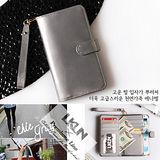 【韓國原裝潮牌 LKUN】Samsung Note2 N7100 專用保護皮套 100%高級牛皮皮套㊣ 多功能多用途手機皮套&錢包完美結合 (珍珠銀)