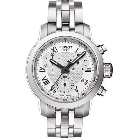 TISSOT PRC 200 ladies 唯美時尚計時腕錶-銀 T0552171103300