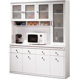 日式量販-寶麗5.3尺白色隔間收納櫃