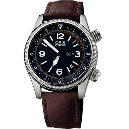 Oris RFDS 限量紀念機械套組腕錶-黑/咖啡 735.7672.40.84LS