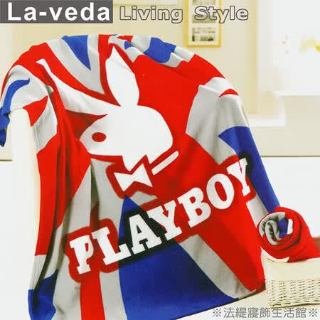 La Veda【PLAYBOY】刷毛薄毯-經典旗幟