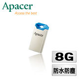 Apacer宇瞻 AH111 8GB 湛藍玫瑰 防水隨身碟