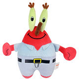 《nickelodeon》海綿寶寶Q版發聲玩偶-16吋蟹老闆玩偶