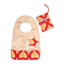 【美國JuJuBe媽咪包】BeNeat 雙面防潑水嬰兒圍兜-Coral Kiss 熱帶珊瑚