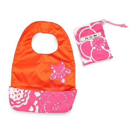 【美國JuJuBe媽咪包】BeNeat 雙面防潑水嬰兒圍兜-Fuchsia Blossoms 魅彩繽紛