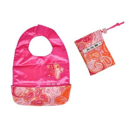 【美國JuJuBe媽咪包】BeNeat 雙面防潑水嬰兒圍兜-Perfect Paisley 粉紅搖滾