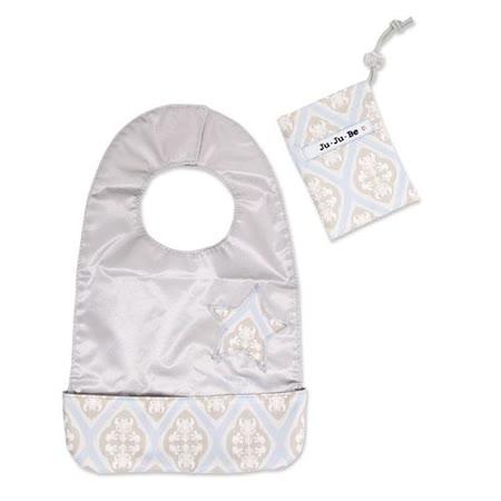 【美國JuJuBe媽咪包】BeNeat 雙面防潑水嬰兒圍兜-Powder Icing 冰晶立方