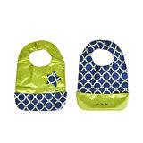 【美國JuJuBe媽咪包】BeNeat 雙面防潑水嬰兒圍兜-Royal Envy 東方藍爵