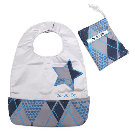 【美國JuJuBe媽咪包】BeNeat 雙面防潑水嬰兒圍兜-Stargyle 星形菱格紋