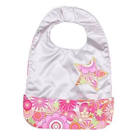 【美國JuJuBe媽咪包】BeNeat 雙面防潑水嬰兒圍兜-Zany Zinnias紅粉緋緋