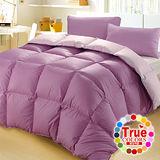 【原色布屋-粉彩】雙人雙色天然羽絲絨被-紫色