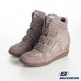 SKECHERS(女) 時尚休閒鞋-增高心機 - 彩金48114DKTP
