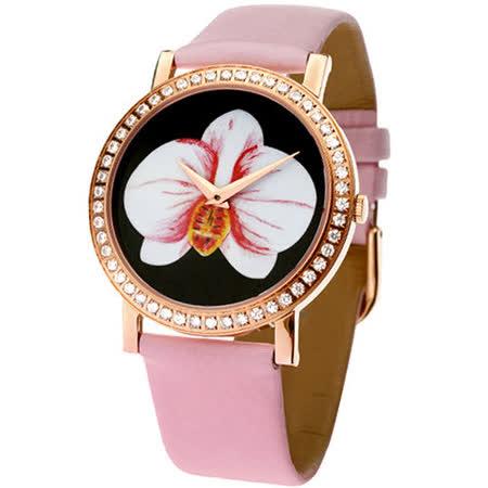 浪威 ROUND WELL花語寄情仕女腕錶 RW3001-G