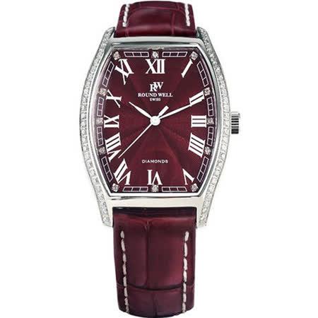 浪威 ROUND WELL 奢華酒桶仕女腕錶 RW3007R