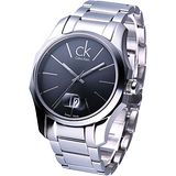 ck biz 酷炫型男極簡品味腕錶(銀黑) K7741161