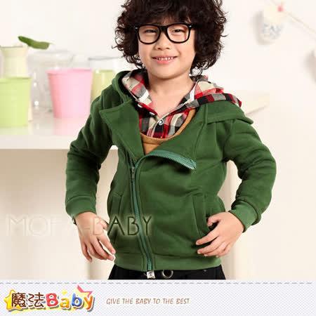 魔法Baby~DODOMO品牌~韓版厚款斜拉鍊連帽外套~男童裝~k29840