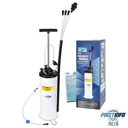 【良匠工具】最新6.5L 手氣動/手動.氣壓複合式 吸油機 真空抽油機 ~附煞車油管