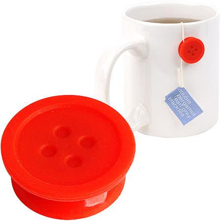 《KIKKERLAND》固定茶包小鈕扣(紅6入)