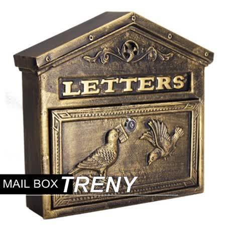 TRENY自然風情-和平鴿鑄鐵信箱-7527