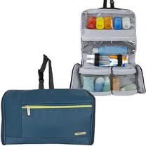 《TRAVELON》軟式盥洗化妝包(藍)