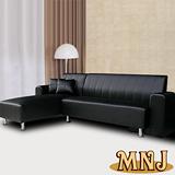 MNJ-空間多變L型獨立筒沙發-(黑)
