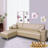 MNJ-空間多變L型獨立筒沙發-(卡其)