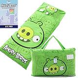 正版憤怒鳥【歡樂六連拍-綠】兩用兒童睡袋-台灣製