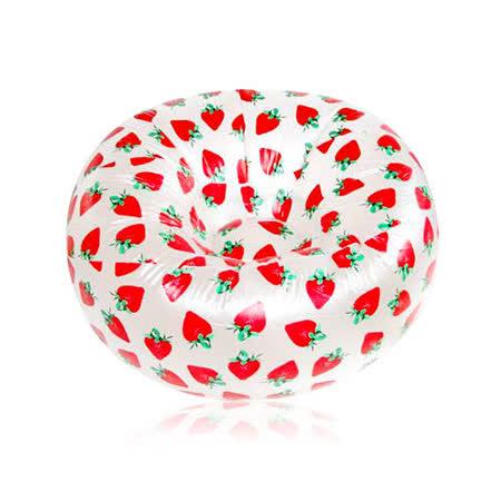 【iSFun】甜漾草莓*單人充氣沙發座/墊