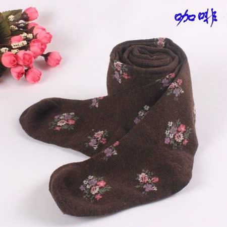 購物車:甜美碎花款((F.咖啡))針織保暖褲襪