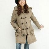 【麗質達人中大碼】雙排扣氣質大衣外套9589