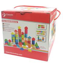 classic world 德國經典木玩客來喜 德國木製字母算數學習積木 木製益智玩具