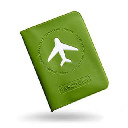 M Square 短版機票護照夾-綠