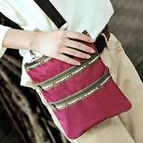 M Square 糖果色單肩三層拉鏈袋-紫羅蘭