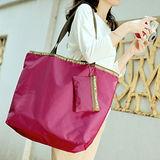 M Square 大拉鏈購物袋-紫羅蘭